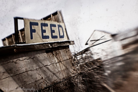 Abandoned Feed Store in Ashfork, Arizona. Route 66. Lensbaby
