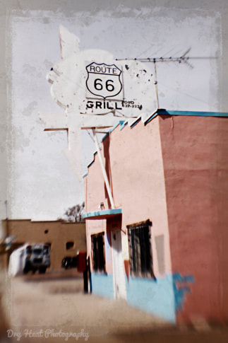 Route 66 Grill in Ashfork, Arizona. Lensbaby