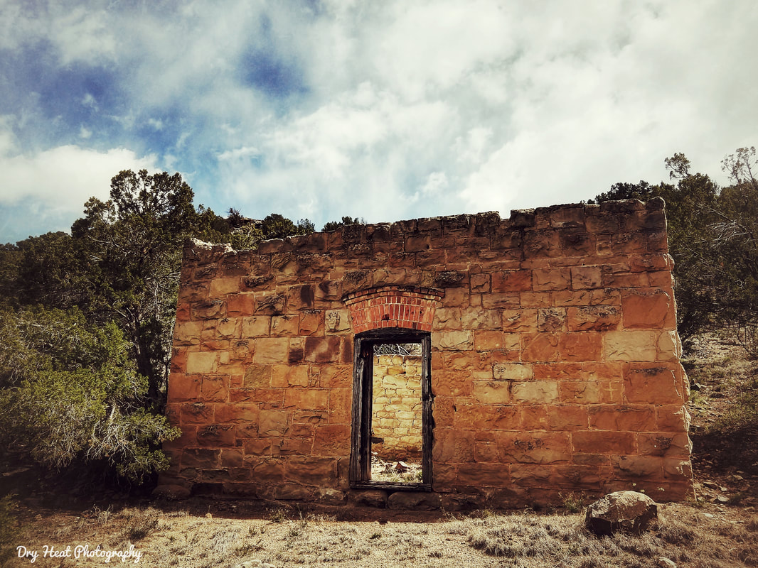Abandoned structure near Cerrillos, New Mexico