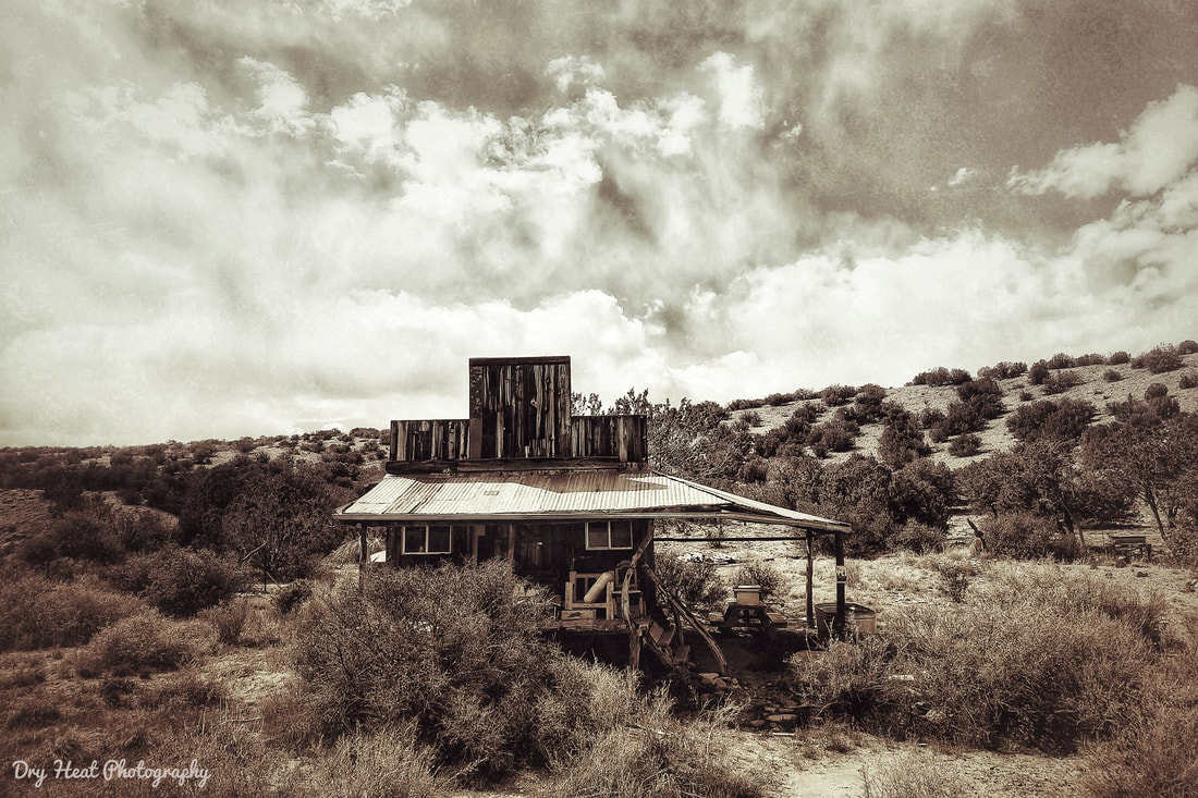 Pump house in Madrid, New Mexico