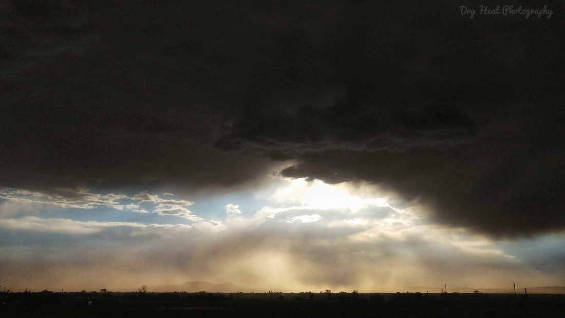 Dust storm and sunset in Meadow Lake, New Mexico