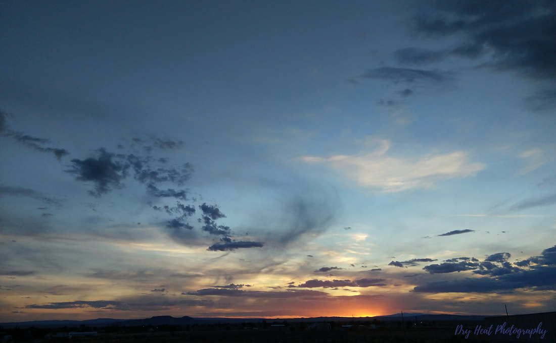 Sunset in Los Lunas, New Mexico