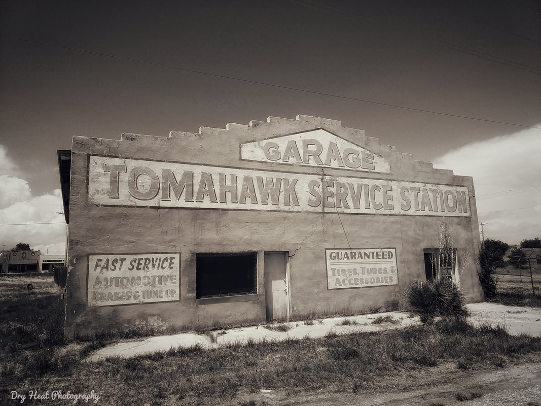 Tomahawk Service Station in Mountainair, New Mexico.