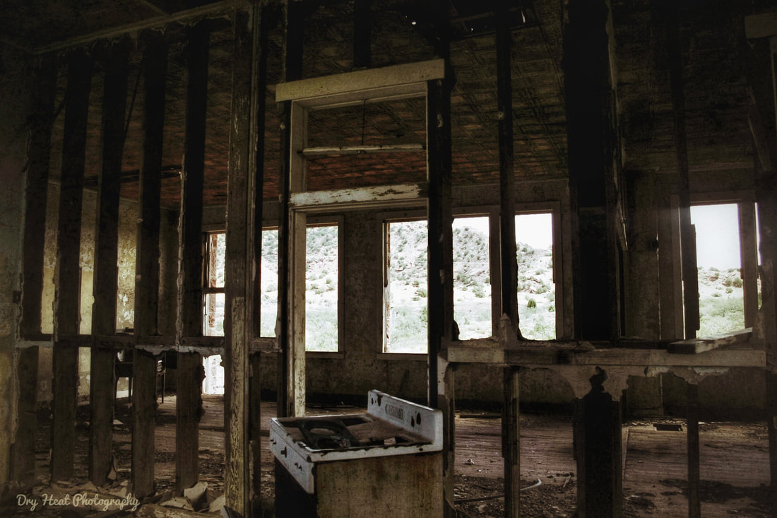 Interior of abandoned school house in Cuervo, New Mexico. DeAnna Vincent