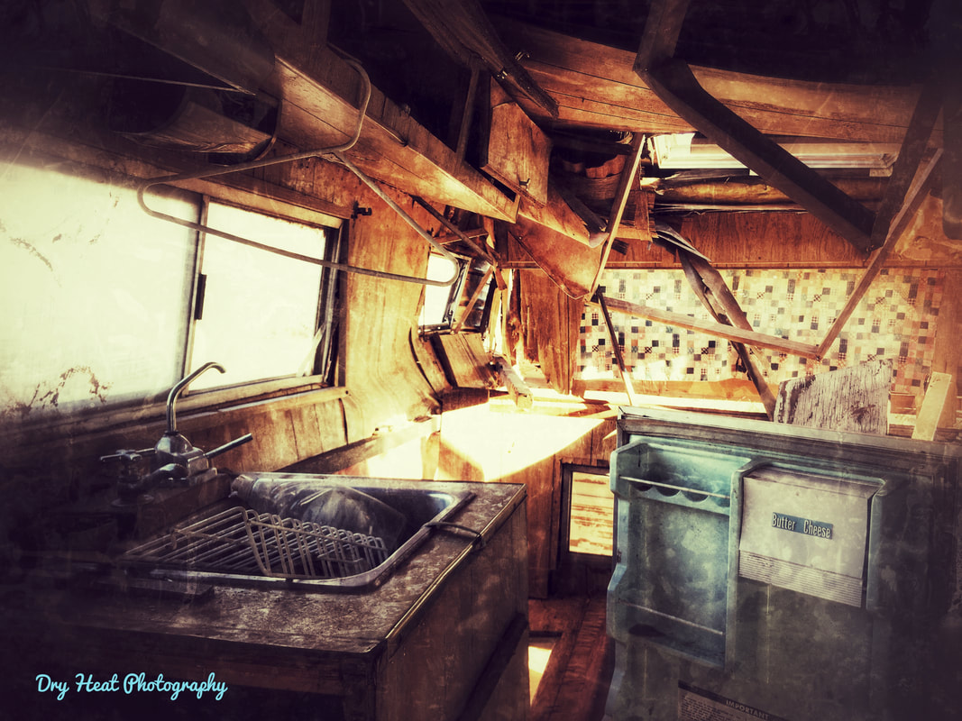 Abandoned Camper in Meadow Lake, New Mexico. Dry Heat Photography