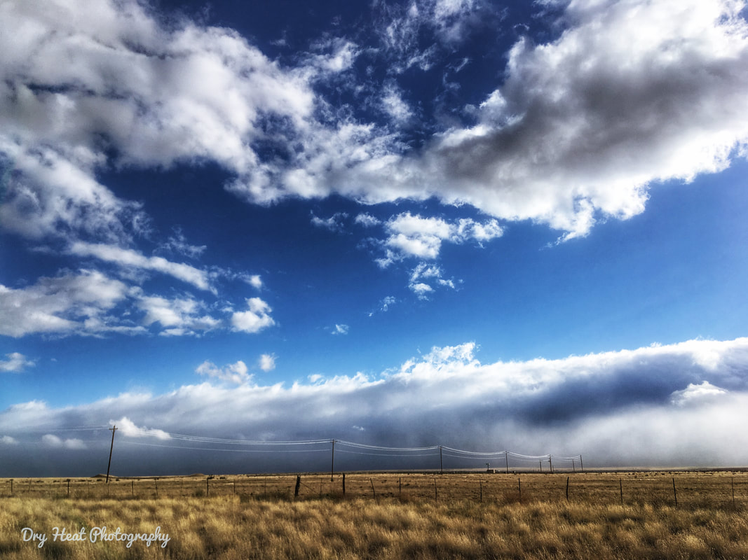 clouds over the Manzano Mountains in New Mexico. DeAnna Vincent