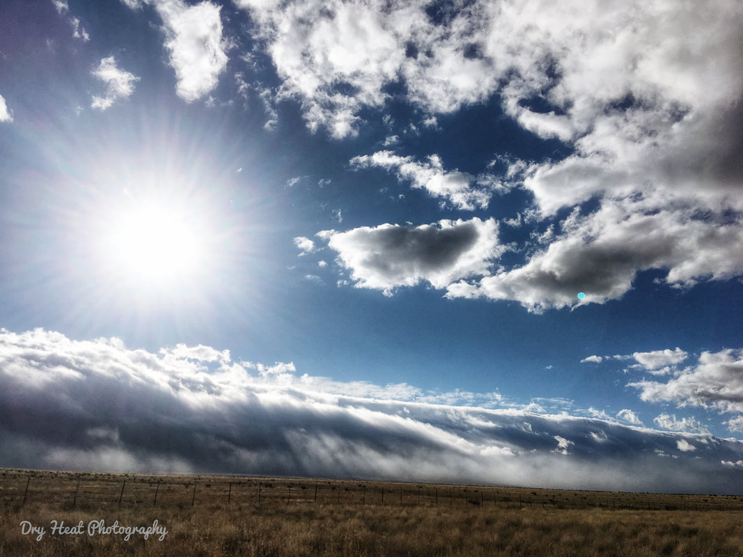 Tidal Wave rolling over the Manzano Mountains in New Mexico. Dry Heat Photography