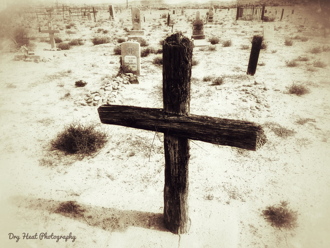 Our Lady Of Guadalupe Cemetery in Peralta, New Mexico. Dry Heat Photography
