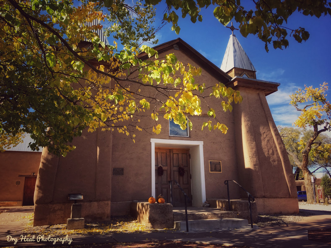San Ysidro Church. Corrales, New Mexico. Dry Heat Photography