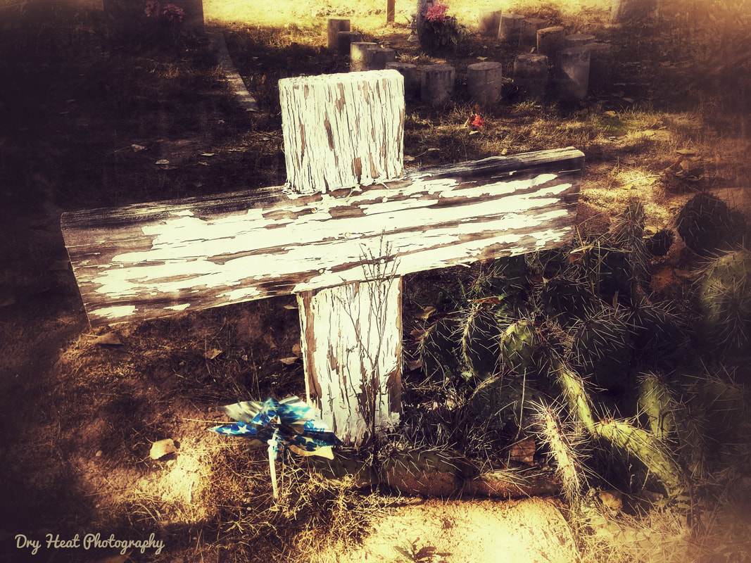 San Ysidro Cemetery in Corrales, New Mexico. Dry Heat Photography