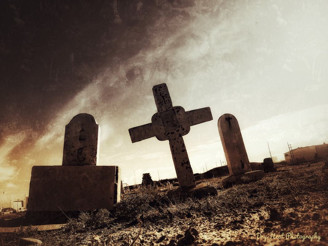 San Jose Cemetery in Albuquerque, New Mexico. Dry Heat Photography