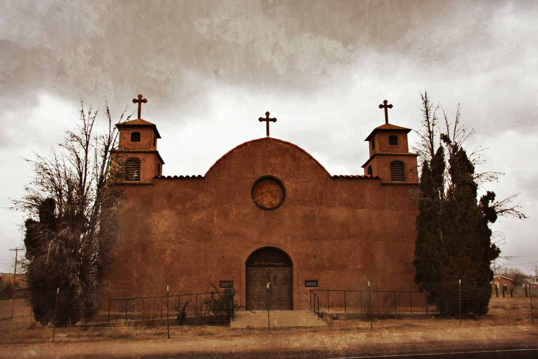 Abandoned Mission Church in San Antonio, New Mexico