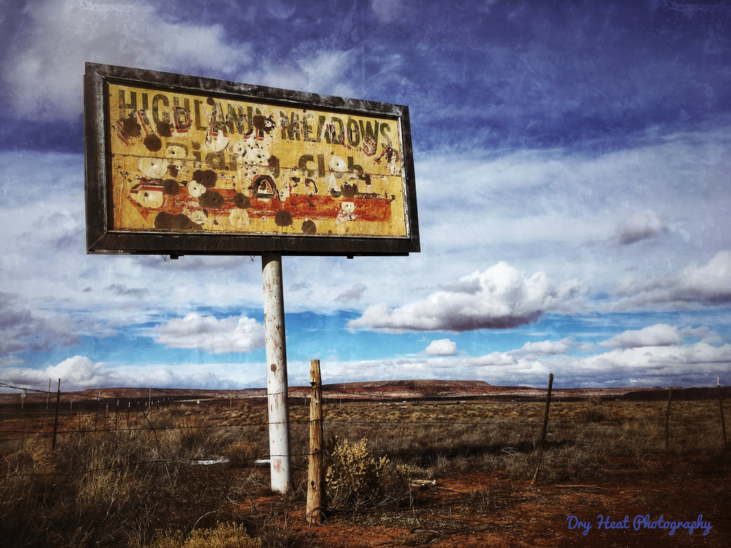 Highland Meadows Riding Club, Maybelle's Diner on Historic Route 66 in New Mexico. Dry Heat Photography