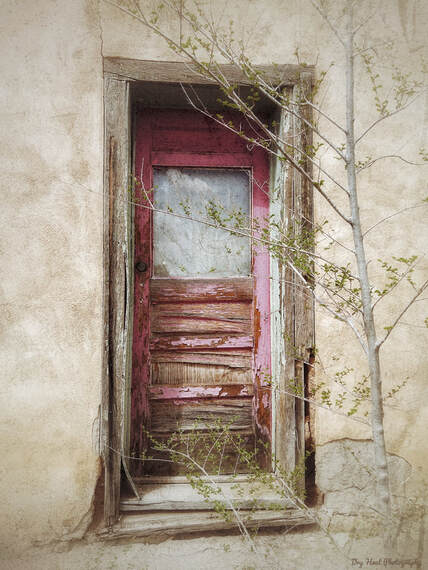 Abandoned house in Cerrillos, New Mexico