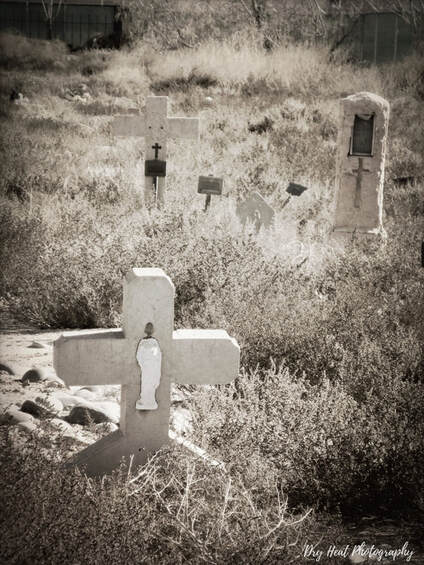 San Carlos Cemetery in Albuquerque, New Mexico. Dry Heat Photography