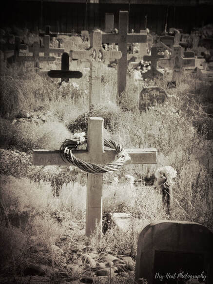 San Carlos Cemetery in Albuquerque, New Mexico. Photo by DeAnna Vincent, Dry Heat Photography