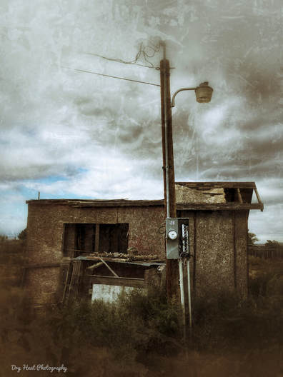 Abandoned building in Meadow lake, New Mexico. Dry Heat Photography
