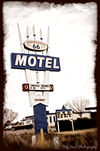 Stagecoach Motel in Seligman, Arizona. Route 66.